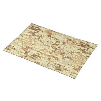Block desert camouflage placemat