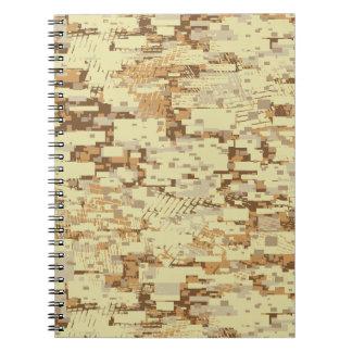 Block desert camouflage spiral notebook