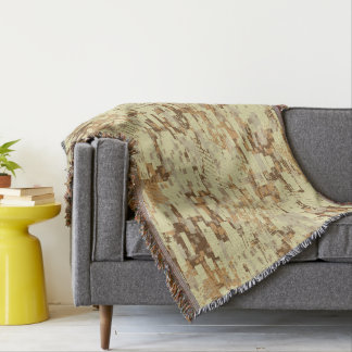 Block desert camouflage throw blanket