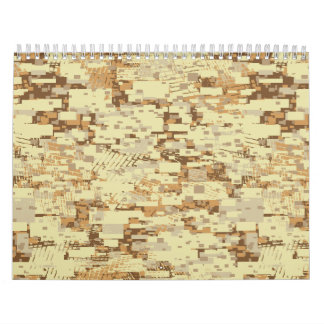 Block desert camouflage wall calendars