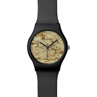 Block desert camouflage watch