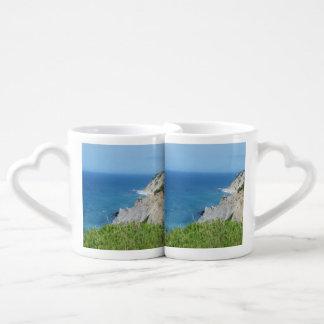 Block Island Bluffs - Block Island, Rhode Island Coffee Mug Set