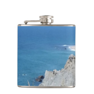 Block Island Bluffs - Block Island, Rhode Island Hip Flask