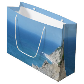 Block Island Bluffs - Block Island, Rhode Island Large Gift Bag