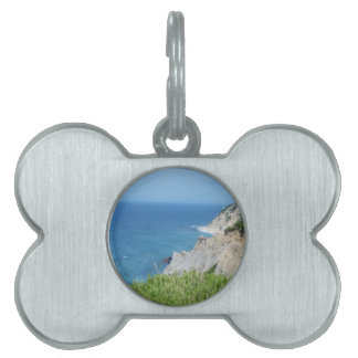 Block Island Bluffs - Block Island, Rhode Island Pet ID Tag