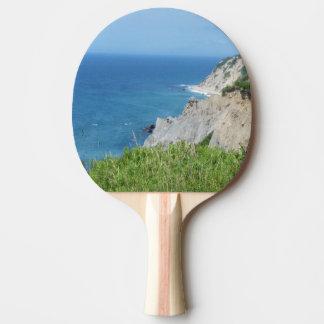 Block Island Bluffs - Block Island, Rhode Island Ping Pong Paddle