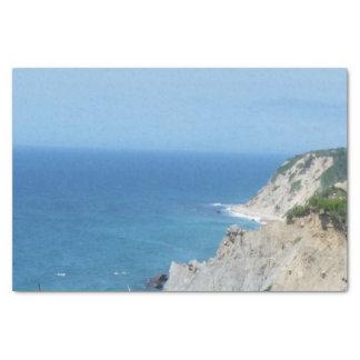 Block Island Bluffs - Block Island, Rhode Island Tissue Paper
