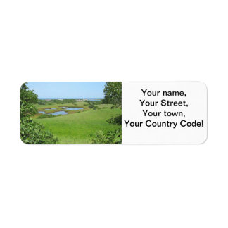 Block Island Champlin Road Meadow Return Address Label