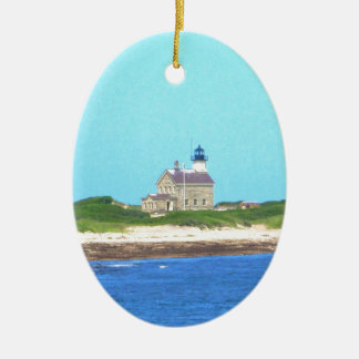 Block Island North Light Ceramic Ornament