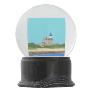 Block Island North Light Snow Globe