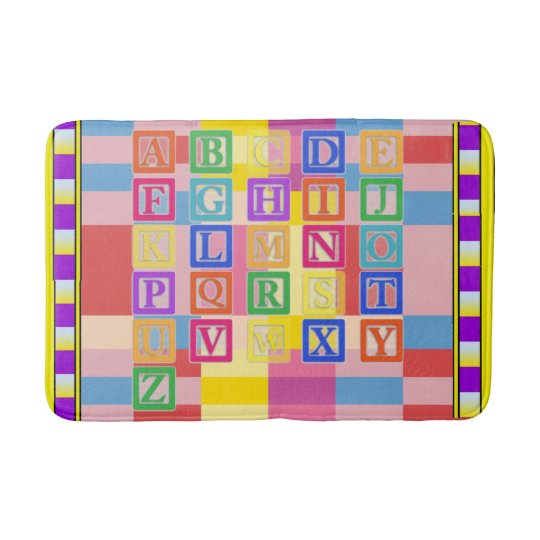 Block Letters Bath Mat