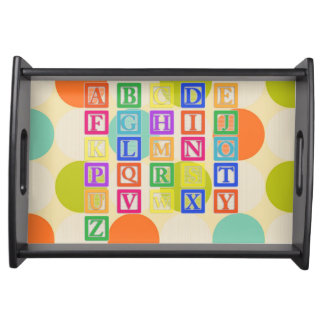 Block Letters Serving Tray