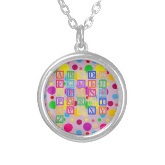 Block Letters Silver Plated Necklace
