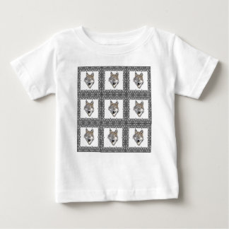 Block of Gray Wolves Baby T-Shirt