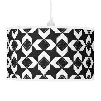 Block Over Block Black & White Pendant Lamp