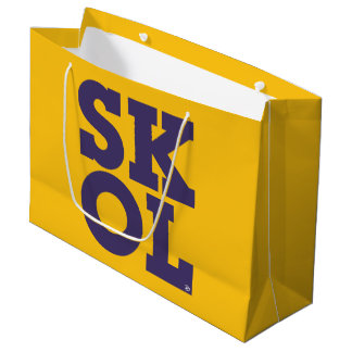 """Block Script """"SKOL"""" - Large Gift Bag (Yellow)"""
