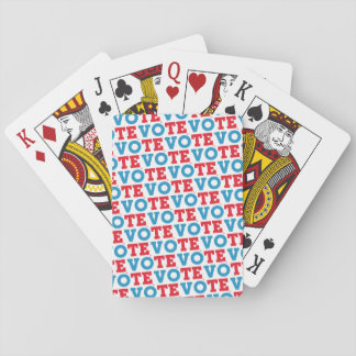 """Block Script """"VOTE"""" - Playing Cards"""