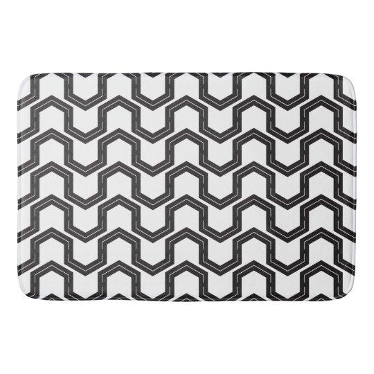 Block Step Black & White Bath Mat