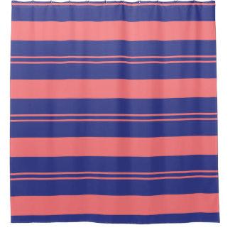 block stripe shower curtain