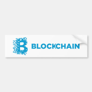 Blockchain Block Chain Crypto Coin Bumper Sticker