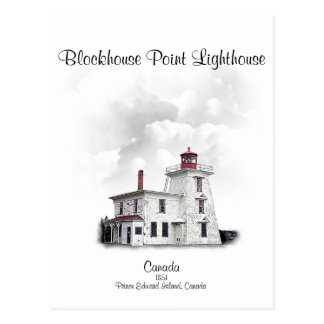 Blockhouse Point Light - Prince Edward Is., Can Postcard