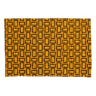 Blocks Modern Gold Black Pillowcase Set