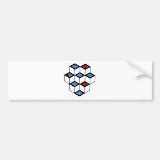 Blocks of Illusion Bumper Sticker