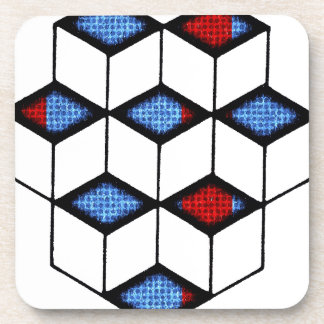 Blocks of Illusion Coasters