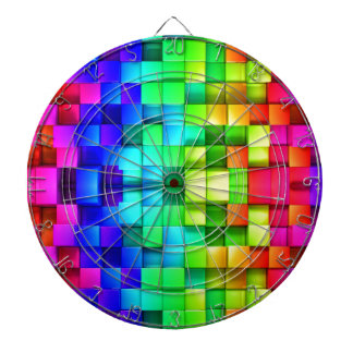 Blocks Rainbow 3d Graphics Background Dartboard