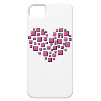 Blocky Heart iPhone 5 Cases