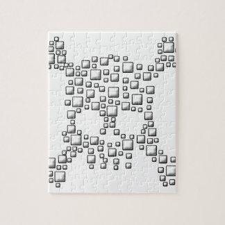 Blocky Skull Jigsaw Puzzle