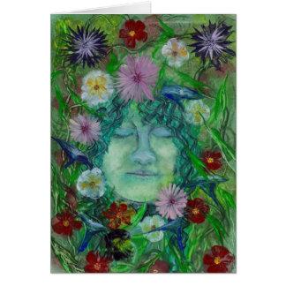 Blodeuwedd - Flower Wife Card