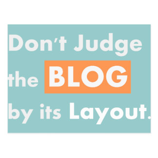 Blog quotes Don't Judge Postcard