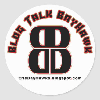 Blog Talk BayHawk White Stickers