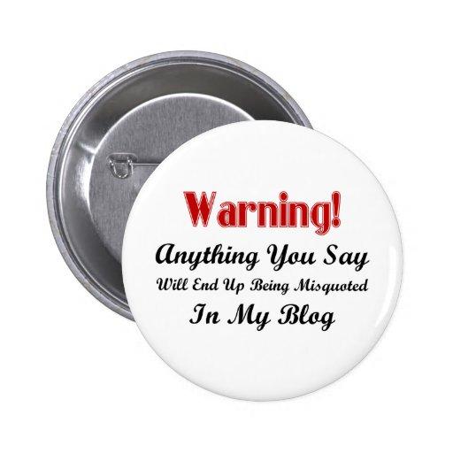 Blog Warning Button