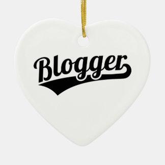 Blogger Ceramic Heart Ornament