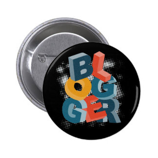 Blogger Letters Blocks 2 Inch Round Button