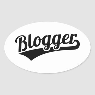 Blogger Oval Sticker