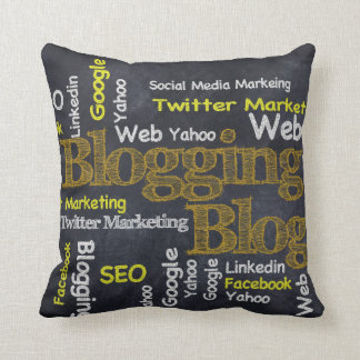 Bloggers Delight Throw Pillow