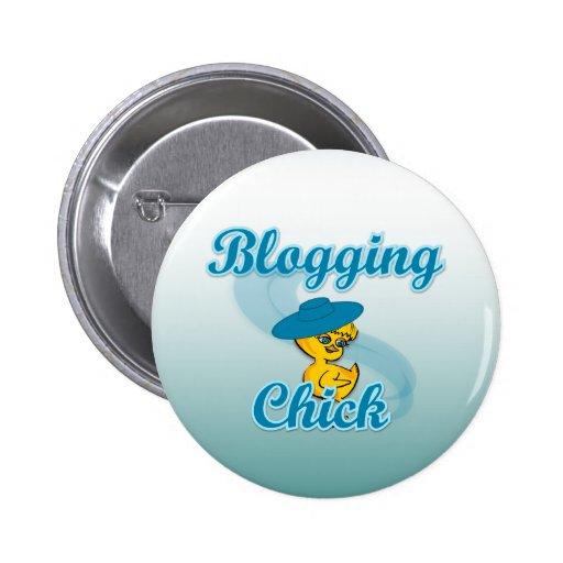 Blogging Chick #3 Button