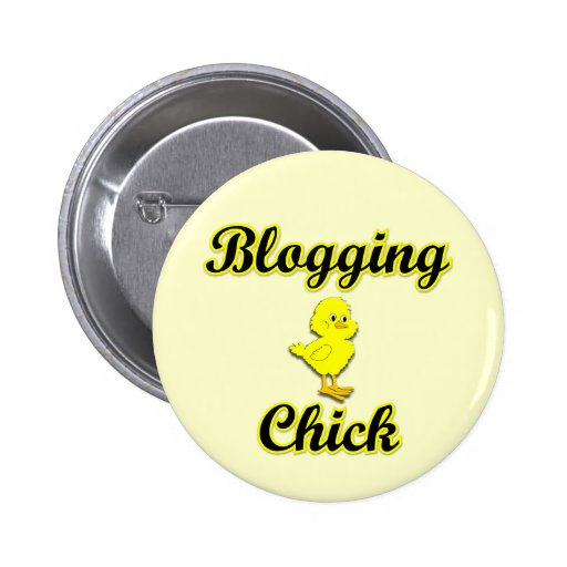 Blogging Chick Pinback Buttons