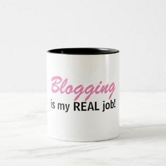 Blogging is my REAL job - Blog Life Mug