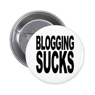 Blogging Sucks 2 Inch Round Button