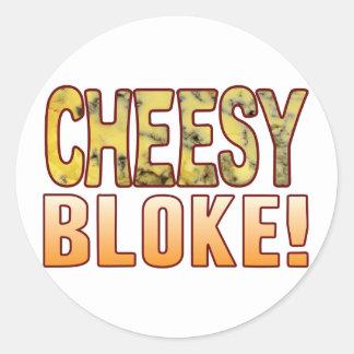 Bloke Blue Cheese Round Sticker