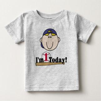 Blond Baseball First Birthday Baby T-Shirt