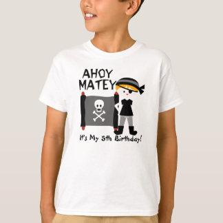 Blond Boy Party Like a Pirate Custom Tshirt