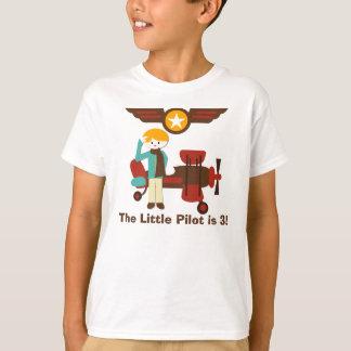 Blond Boy Pilot Birthday Custom T-shirt