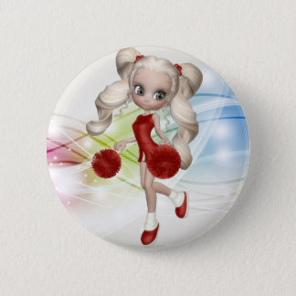 Blond Cheerleader Button
