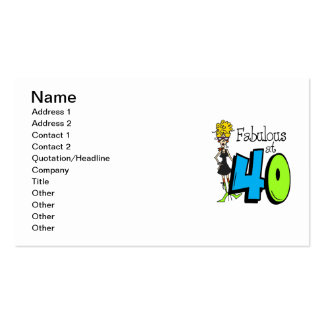 Blond Fabulous at 40 Birthday Pack Of Standard Business Cards