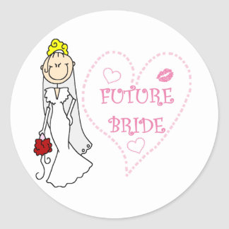 Blond Future Bride T-shirts and Gifts Classic Round Sticker